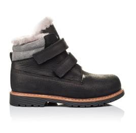 Детские зимові черевики на хутрі Woopy Orthopedic черные для мальчиков натуральный нубук размер 25-27 (3936) Фото 4