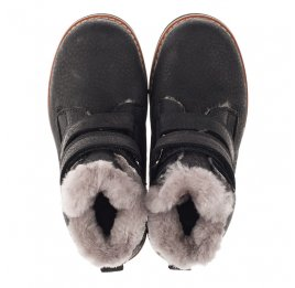 Детские зимові черевики на хутрі Woopy Orthopedic черные для мальчиков натуральный нубук размер 25-26 (3936) Фото 5