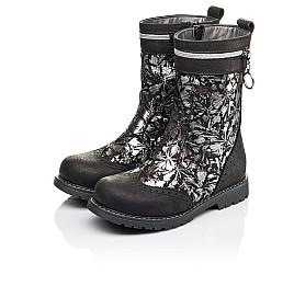 Детские зимние сапожки на меху Woopy Orthopedic черные для девочек натуральный нубук размер 29-37 (3937) Фото 3