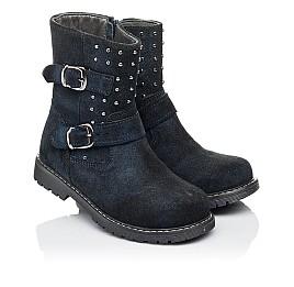Детские зимові чобітки на хутрі Woopy Orthopedic синие для девочек натуральная замша размер 26-32 (3938) Фото 1
