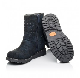 Детские зимові чобітки на хутрі Woopy Orthopedic синие для девочек натуральная замша размер 26-32 (3938) Фото 2