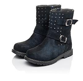 Детские зимові чобітки на хутрі Woopy Orthopedic синие для девочек натуральная замша размер 26-32 (3938) Фото 3