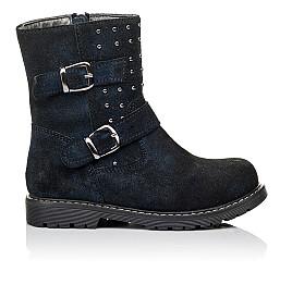 Детские зимові чобітки на хутрі Woopy Orthopedic синие для девочек натуральная замша размер 26-32 (3938) Фото 4