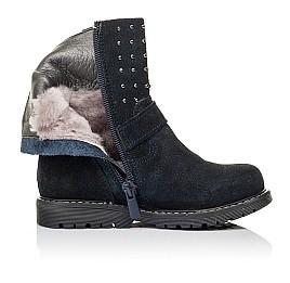 Детские зимові чобітки на хутрі Woopy Orthopedic синие для девочек натуральная замша размер 26-32 (3938) Фото 5