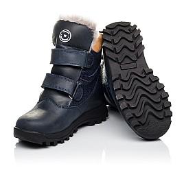 Детские зимові черевики на хутрі Woopy Orthopedic синие для мальчиков натуральный нубук размер 21-26 (3941) Фото 2