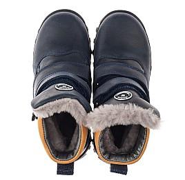 Детские зимові черевики на хутрі Woopy Orthopedic синие для мальчиков натуральный нубук размер 21-26 (3941) Фото 4