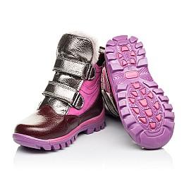 Детские зимние ботинки на меху Woopy Orthopedic бордовые для девочек  натуральная кожа и нубук размер 21-29 (3942) Фото 2