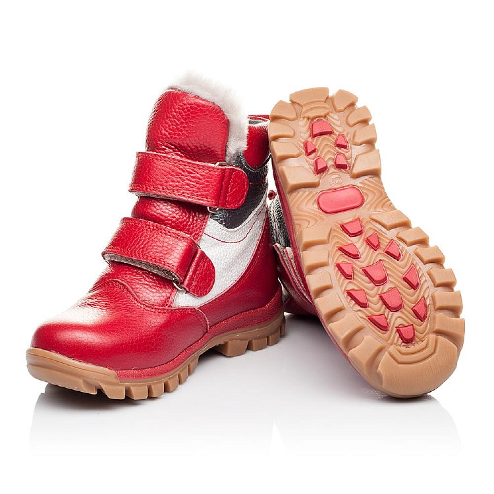 Детские зимние ботинки на меху Woopy Orthopedic красные для девочек натуральная кожа размер 21-30 (3943) Фото 2