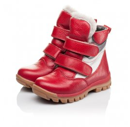 Детские зимние ботинки на меху Woopy Orthopedic красные для девочек  натуральная кожа размер 21-28 (3943) Фото 3