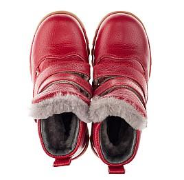 Детские зимние ботинки на меху Woopy Orthopedic красные для девочек  натуральная кожа размер 21-28 (3943) Фото 5