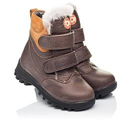 Детские зимові черевики на хутрі Woopy Orthopedic коричневые для мальчиков  натуральная кожа размер 21-26 (3944) Фото 1