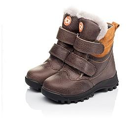 Детские зимові черевики на хутрі Woopy Orthopedic коричневые для мальчиков  натуральная кожа размер 21-30 (3944) Фото 3