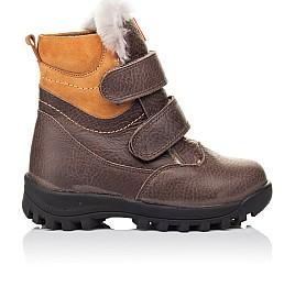 Детские зимові черевики на хутрі Woopy Orthopedic коричневые для мальчиков  натуральная кожа размер 21-30 (3944) Фото 4