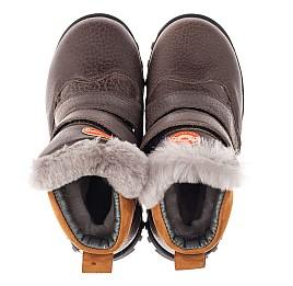 Детские зимові черевики на хутрі Woopy Orthopedic коричневые для мальчиков  натуральная кожа размер 21-26 (3944) Фото 5