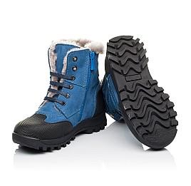 Детские зимние ботинки на меху Woopy Orthopedic голубые для мальчиков натуральный нубук размер 26-31 (3945) Фото 2