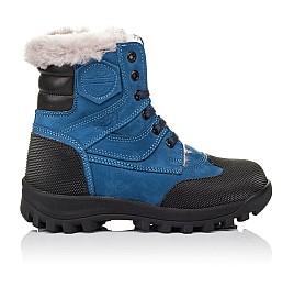 Детские зимние ботинки на меху Woopy Orthopedic голубые для мальчиков натуральный нубук размер 26-31 (3945) Фото 4