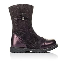 Детские зимние сапожки на меху Woopy Orthopedic фиолетовые для девочек  натуральная кожа и нубук размер 26-26 (3946) Фото 4