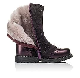 Детские зимние сапожки на меху Woopy Orthopedic фиолетовые для девочек  натуральная кожа и нубук размер 26-26 (3946) Фото 5