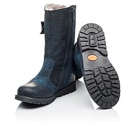 Детские зимові чобітки на хутрі Woopy Orthopedic синие для девочек  натуральная кожа и нубук размер 30-31 (3947) Фото 2