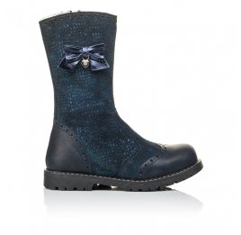 Детские зимові чобітки на хутрі Woopy Orthopedic синие для девочек  натуральная кожа и нубук размер 30-31 (3947) Фото 4
