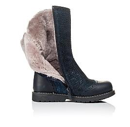 Детские зимові чобітки на хутрі Woopy Orthopedic синие для девочек  натуральная кожа и нубук размер 30-31 (3947) Фото 5