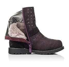 Детские зимние сапожки на меху Woopy Orthopedic фиолетовые для девочек натуральная замша размер 26-30 (3949) Фото 5