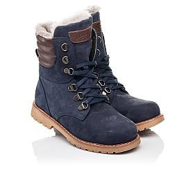 Детские зимние ботинки на меху Woopy Orthopedic синие для мальчиков натуральный нубук размер 31-31 (3950) Фото 1