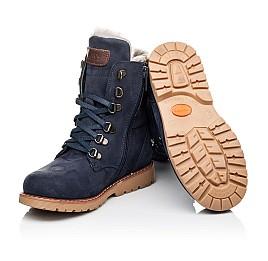 Детские зимние ботинки на меху Woopy Orthopedic синие для мальчиков натуральный нубук размер 31-31 (3950) Фото 2