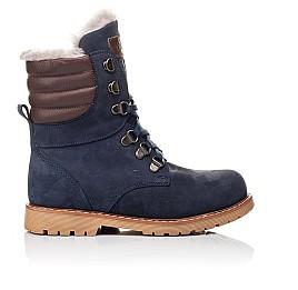 Детские зимние ботинки на меху Woopy Orthopedic синие для мальчиков натуральный нубук размер 31-31 (3950) Фото 4