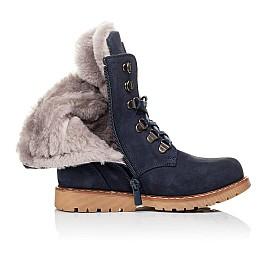 Детские зимние ботинки на меху Woopy Orthopedic синие для мальчиков натуральный нубук размер 31-31 (3950) Фото 5