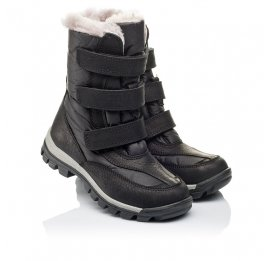 Детские зимние ботинки на меху Woopy Orthopedic черные для мальчиков нубук OIL, водонепроницаемая плащевка размер 21-22 (3951) Фото 1