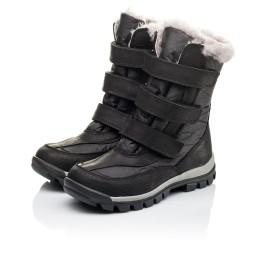 Детские зимние ботинки на меху Woopy Orthopedic черные для мальчиков нубук OIL, водонепроницаемая плащевка размер 21-22 (3951) Фото 3
