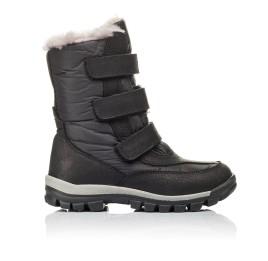 Детские зимние ботинки на меху Woopy Orthopedic черные для мальчиков нубук OIL, водонепроницаемая плащевка размер 21-22 (3951) Фото 4