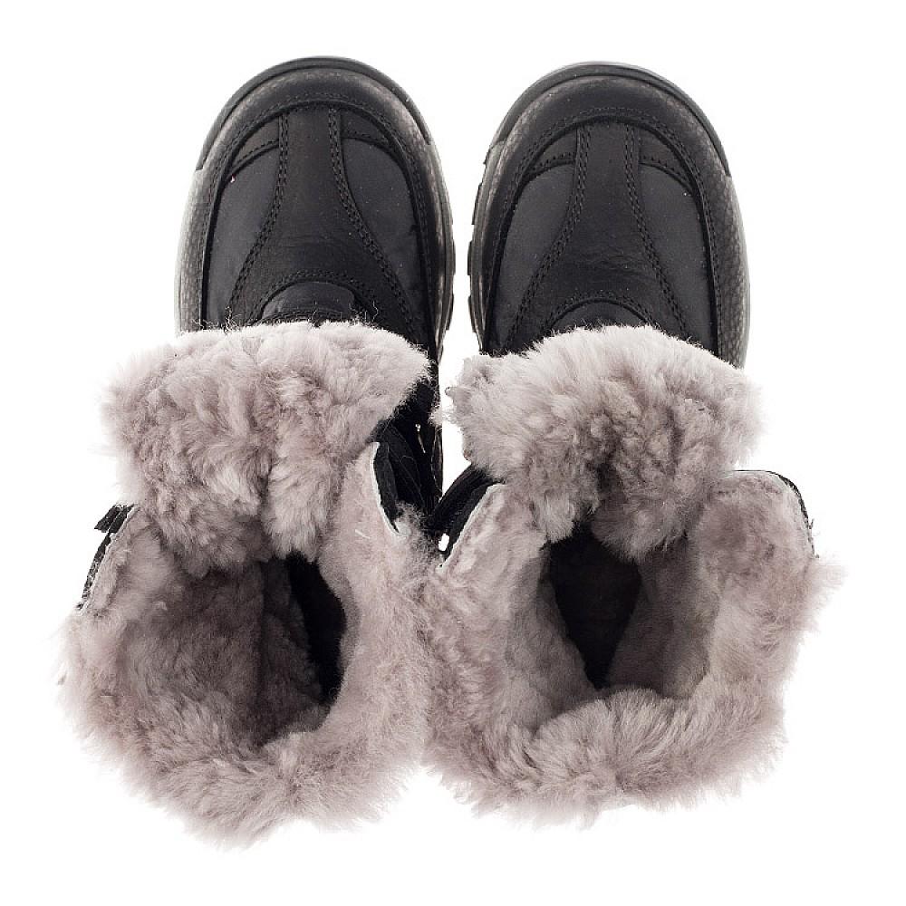 Детские зимние ботинки на меху Woopy Orthopedic черные для мальчиков нубук OIL, водонепроницаемая плащевка размер 21-36 (3951) Фото 5
