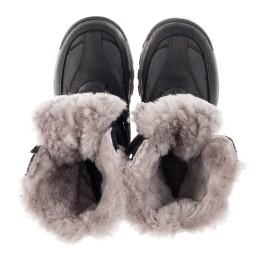 Детские зимние ботинки на меху Woopy Orthopedic черные для мальчиков нубук OIL, водонепроницаемая плащевка размер 21-22 (3951) Фото 5