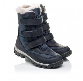 Детские зимові черевики на хутрі Woopy Orthopedic синие для мальчиков нубук OIL, водонепроницаемая плащевка размер 21-22 (3952) Фото 1