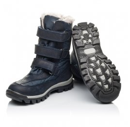 Детские зимові черевики на хутрі Woopy Orthopedic синие для мальчиков нубук OIL, водонепроницаемая плащевка размер 21-22 (3952) Фото 2