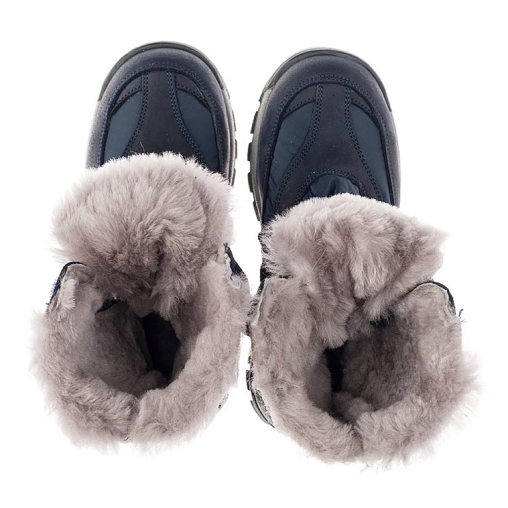 Детские зимние ботинки на меху Woopy Orthopedic синие для мальчиков нубук OIL, водонепроницаемая плащевка размер 21-36 (3952) Фото 5