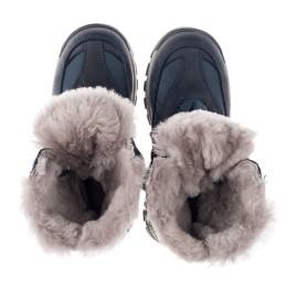 Детские зимові черевики на хутрі Woopy Orthopedic синие для мальчиков нубук OIL, водонепроницаемая плащевка размер 21-22 (3952) Фото 5