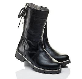 Детские зимние сапожки на меху Woopy Orthopedic черные для девочек натуральная кожа размер 31-32 (3953) Фото 1