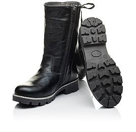 Детские зимние сапожки на меху Woopy Orthopedic черные для девочек натуральная кожа размер 31-32 (3953) Фото 2