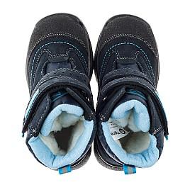 Детские термоботінкі Tigina синие для мальчиков замша, текстиль размер 22-24 (3955) Фото 5