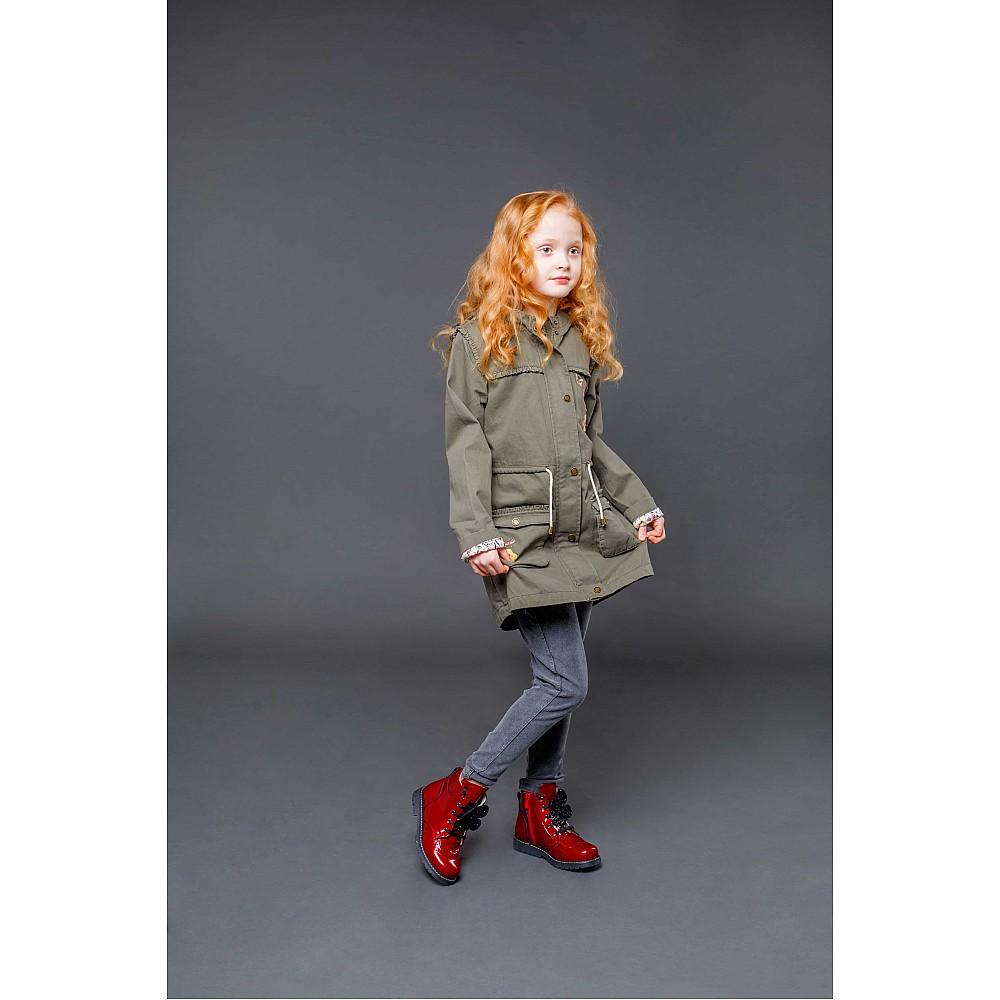 Детские демисезонные ботинки Woopy Orthopedic красные для девочек натуральная лаковая кожа размер 22-36 (4001) Фото 6