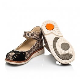 Детские туфли ортопедические Woopy Orthopedic золотые для девочек натуральный нубук размер 21-30 (4003) Фото 2