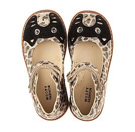 Детские туфли ортопедические Woopy Orthopedic золотые для девочек натуральный нубук размер 21-23 (4003) Фото 5
