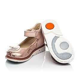 Детские туфли ортопедические Woopy Orthopedic розовые для девочек  натуральная кожа размер 25-33 (4004) Фото 2
