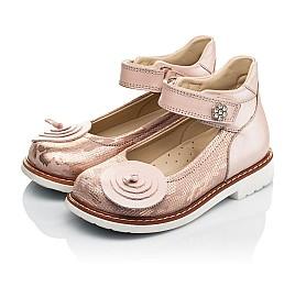 Детские туфли ортопедические Woopy Orthopedic розовые для девочек  натуральная кожа размер 25-33 (4004) Фото 3