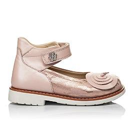 Детские туфли ортопедические Woopy Orthopedic розовые для девочек  натуральная кожа размер 25-33 (4004) Фото 4