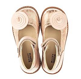 Детские туфли ортопедические Woopy Orthopedic розовые для девочек  натуральная кожа размер 25-33 (4004) Фото 5