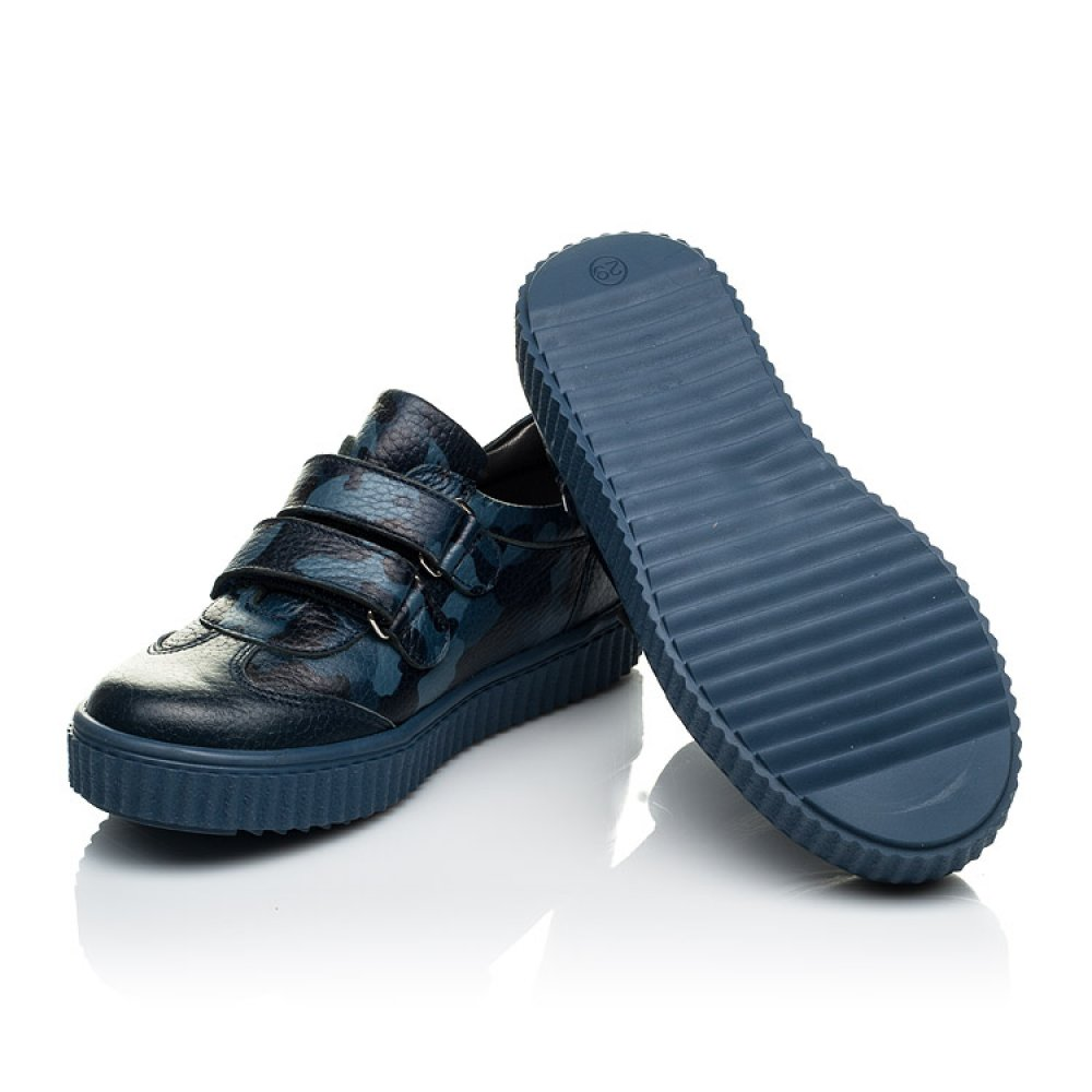 Детские кеды Woopy Orthopedic синие для мальчиков натуральная кожа размер 18-30 (4007) Фото 2